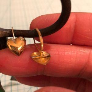 ❤️♥️10kt yellow gold heart earrings ♥️❤️